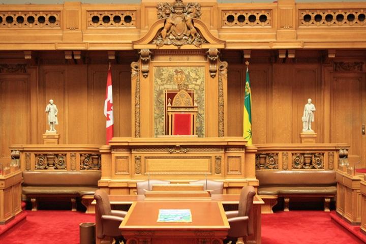 Inside Saskatchewan Legislature Chamber